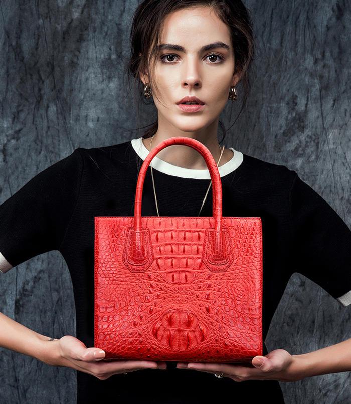 Red Crocodile Handbags and Alligator Handbags 2018