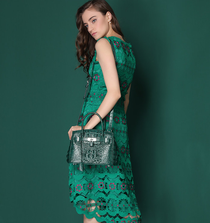 green crocodile bag from BRUCEGAO