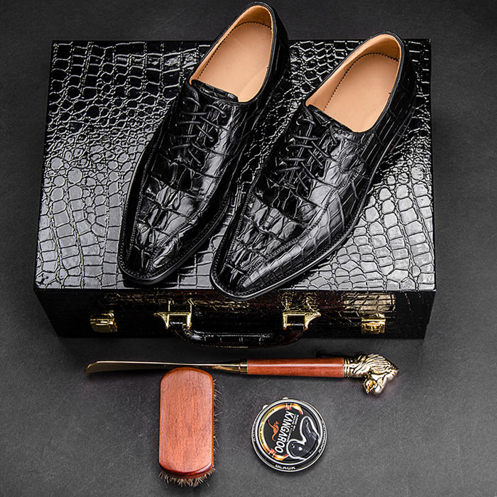 Alligator Shoes Black Color
