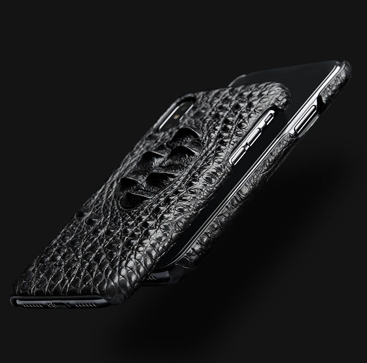 Black #1 iPhone X Case-Detail