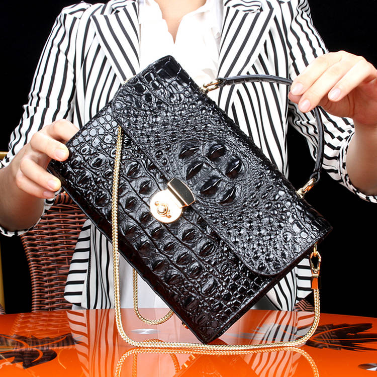 Crocodile Handbag-2018 for BRUCEGAO-Black