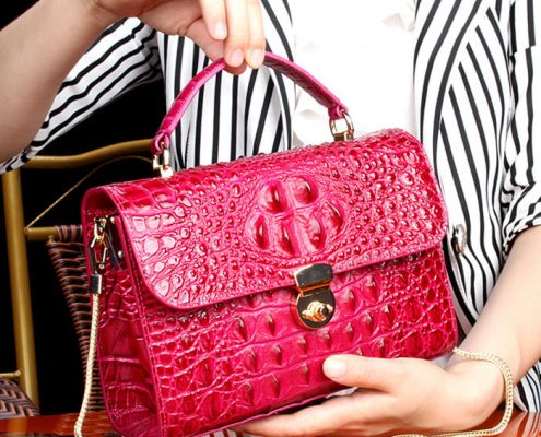 Crocodile Handbag-2018 for BRUCEGAO-Red