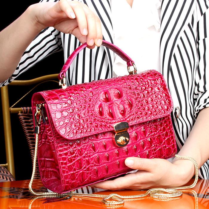 Crocodile Handbag-2018 for BRUCEGAO-Red