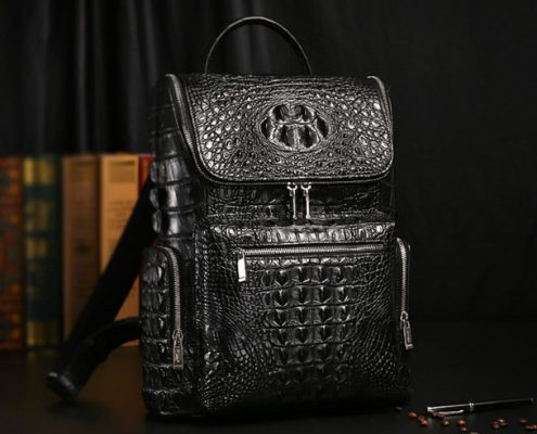 Crocodile Skin Backpacks from BRUCEGAO