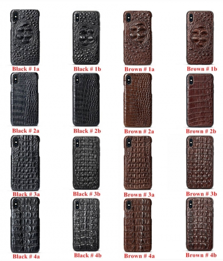 Crocodile and Alligator Skin iPhone Xs Max Cases - Art No.