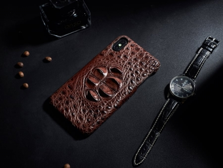 Crocodile and Alligator Skin iPhone Xs Max Case - Brownown