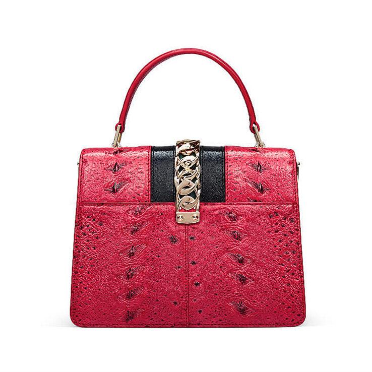 Designer Fashion Sturgeon Leather Handbag for Women-Back