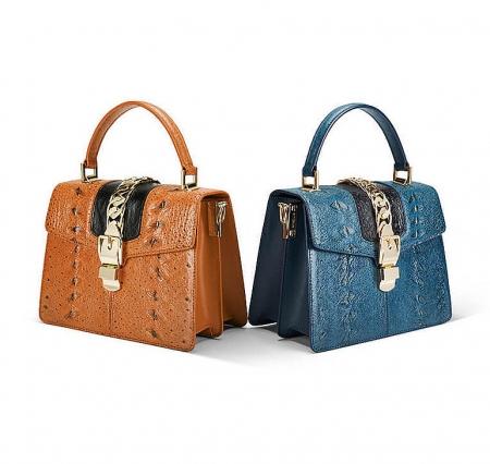 Designer Fashion Sturgeon Leather Handbag for Women-Exhibition-1