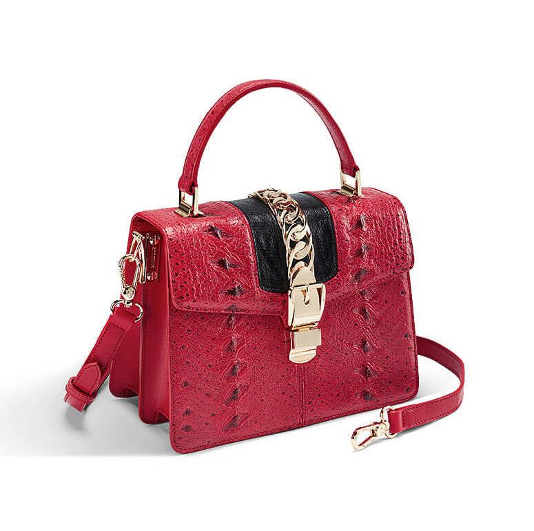 Designer Fashion Sturgeon Leather Handbag for Women-Exhibition