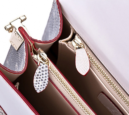 Fashion Designer Lizard Handbag-Inside