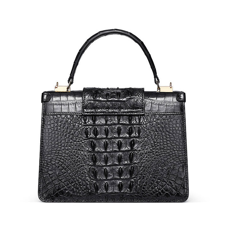 Fashion Genuine Crocodile Skin Crossbody Handbags-Back