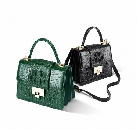 Fashion Genuine Crocodile Skin Crossbody Handbags-Exhibition-1