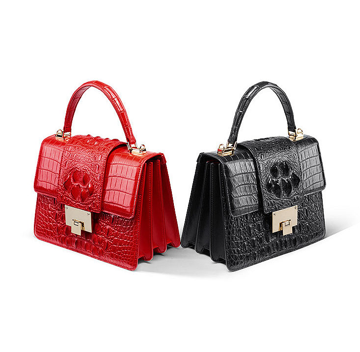 Fashion Genuine Crocodile Skin Crossbody Handbags Exhibition