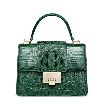 Fashion Genuine Crocodile Skin Crossbody Handbags-Green
