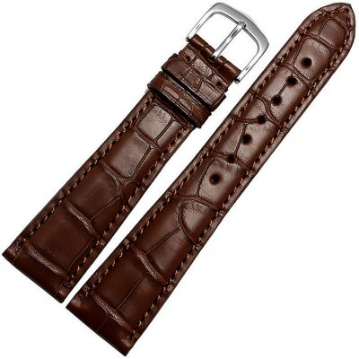 Genuine Alligator Leather Watch Band Classic Alligator Apple Watch Band Brown