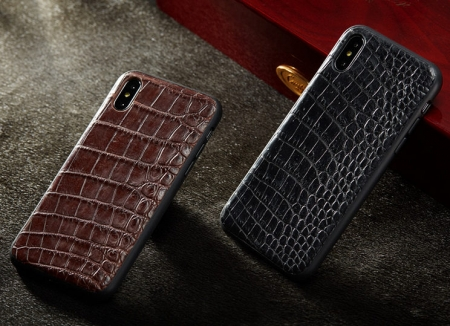 Genuine Alligator Skin iPhone X Case
