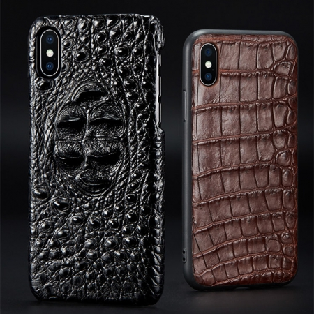 Genuine Crocodile and Alligator Skin iPhone X Case