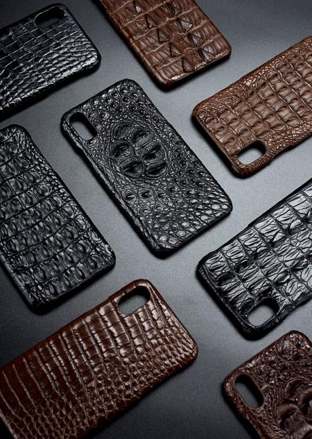 Genuine Crocodile and Alligator Skin iPhone X Case-Exhibition