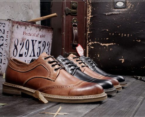 Leather Oxford Shoes from BRUCEGAO