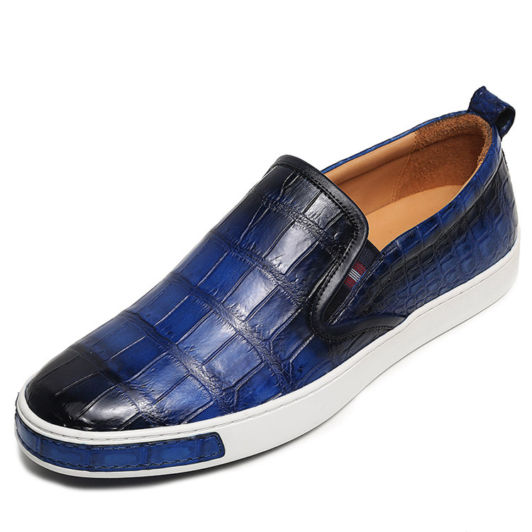 Mens Casual Slip-On Fashion Alligator Sneakers - Blue
