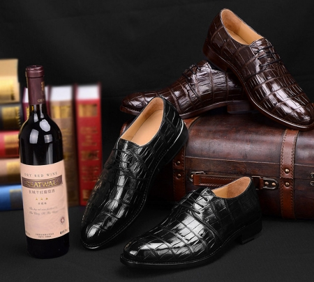 Men's Premium Genuine Alligator Skin Dress Shoes-Exhibition