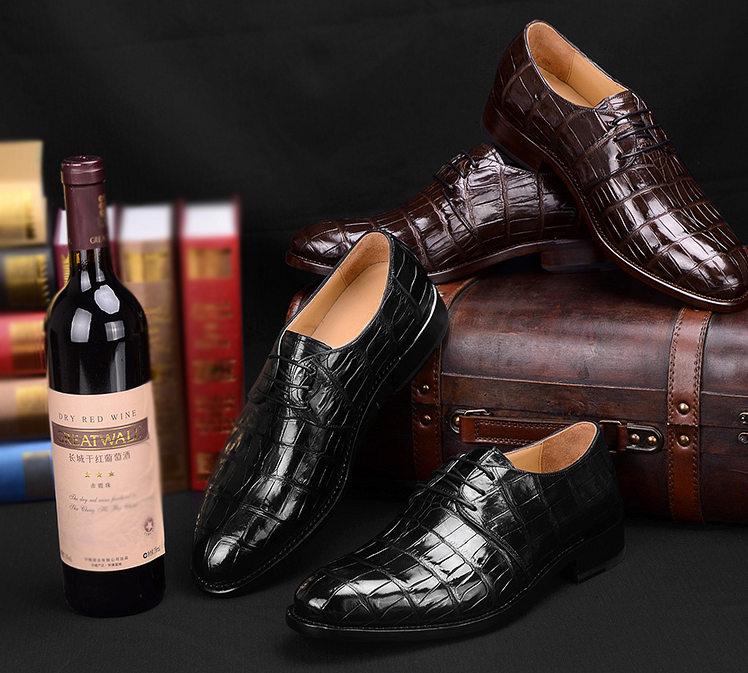 Men's Premium Genuine Alligator Skin Dress Shoes-Exhibition