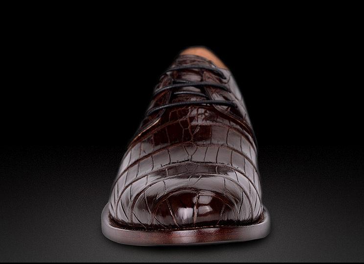 Men's Premium Genuine Alligator Skin Dress Shoes-Toe