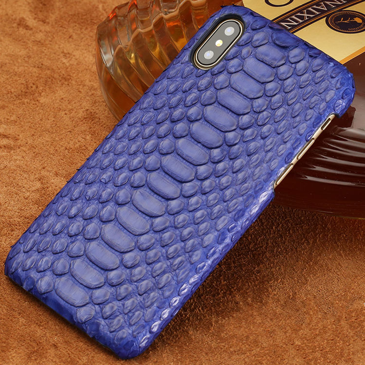 Snakeskin iPhone X Case-Blue