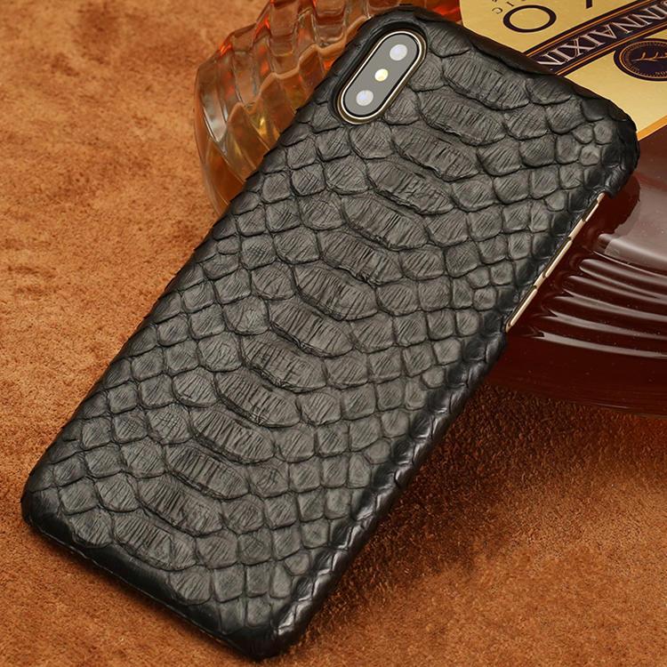 Snakeskin iPhone XS Max, XS, X Case-Black