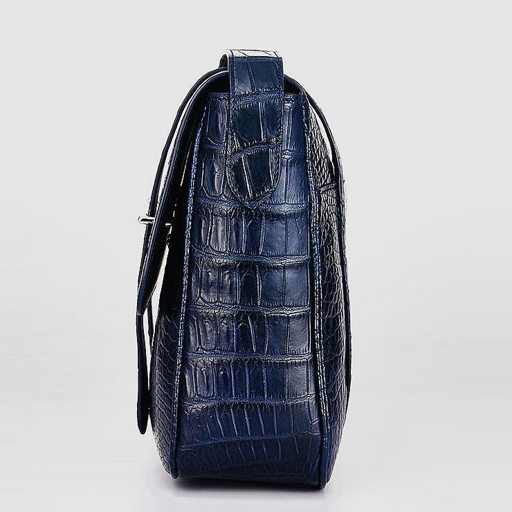 Alligator Leather Satchel Briefcase Messenger Bag Laptop Bag-Side