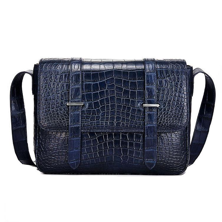 Alligator Leather Satchel Briefcase Messenger Bag Laptop Bag