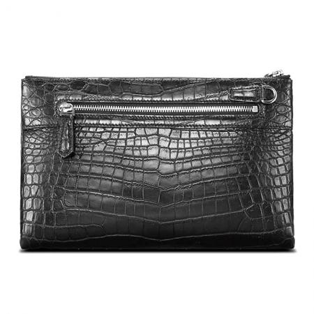 Alligator Skin Big Clutch Bag Wristlet Handbag Organizer Wallet-Back