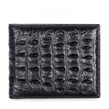 Authentic Crocodile Backbone Skin Bifold Wallet