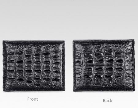 Authentic Crocodile Backbone Skin Bifold Wallet-Details