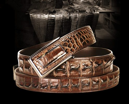 Best Belts for Men - BRUCEGAO's Crocodile Belt