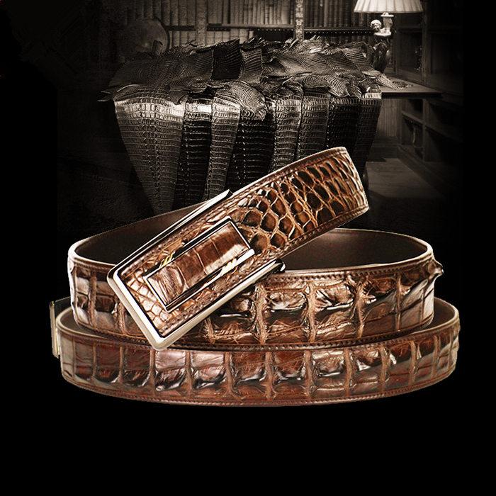 Best Belts for Men - BRUCEGAO's Crocodile Belt