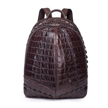 Crocodile Backpack, Fashion Crocodile Cycling Backpack-Brown