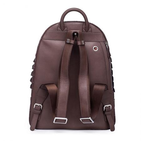 Crocodile Backpack, Fashion Crocodile Cycling Backpack-Brown-Back