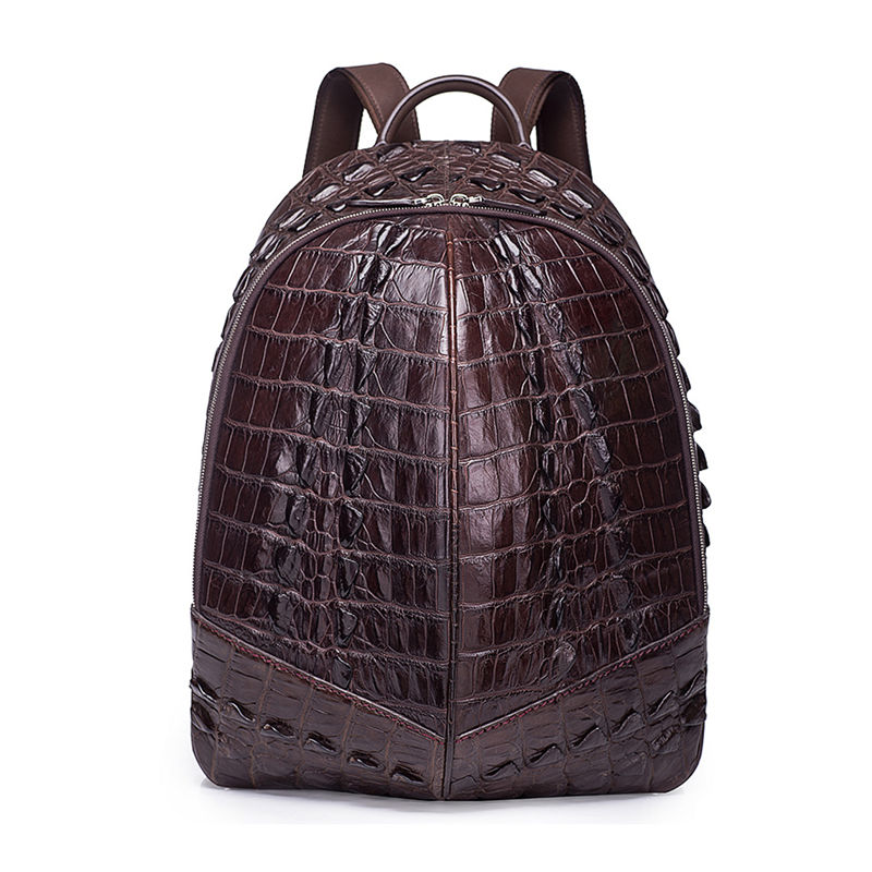 Crocodile Backpack, Fashion Crocodile Cycling Backpack-Brown