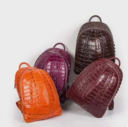 Crocodile Backpack, Fashion Crocodile Cycling Backpack-Exhibition