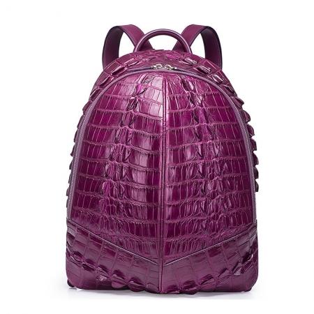 Crocodile Backpack, Fashion Crocodile Cycling Backpack-Purple