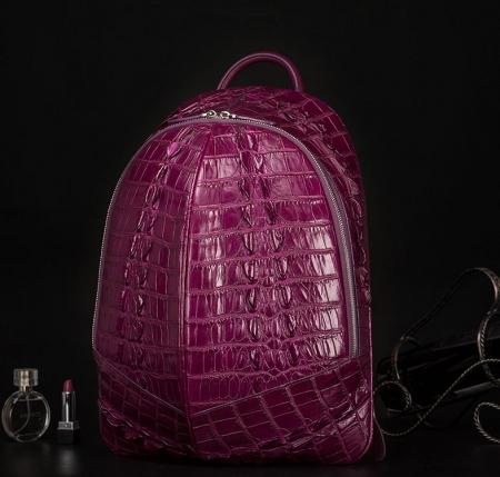 Crocodile Backpack, Fashion Crocodile Cycling Backpack-Purple-Exhibition