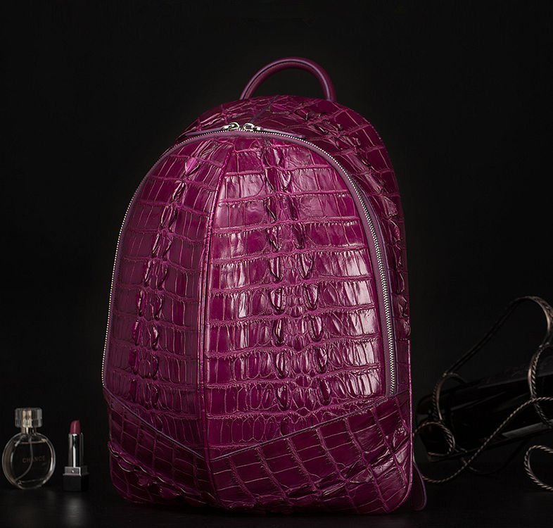 Crocodile Backpack, Fashion Crocodile Cycling Backpack-Purple-Exhibition