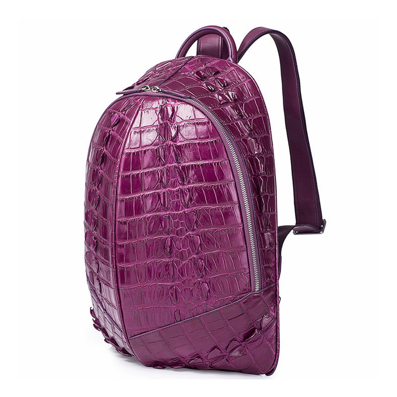 Crocodile Backpack, Fashion Crocodile Cycling Backpack-Purple-Side