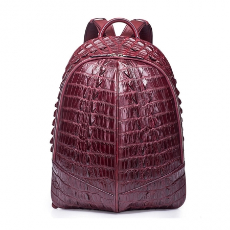 Crocodile Backpack, Fashion Crocodile Cycling Backpack-Wine Red
