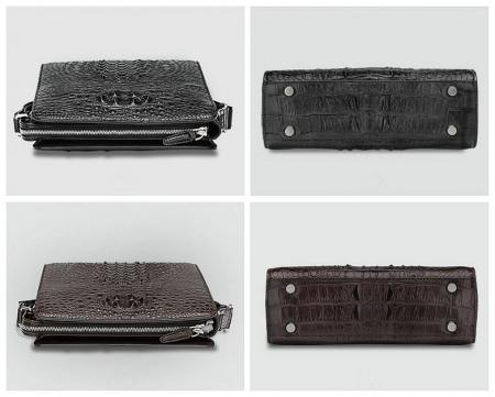 Crocodile Leather Messenger Bag Shoulder Bag Crossbody Bag-Detail