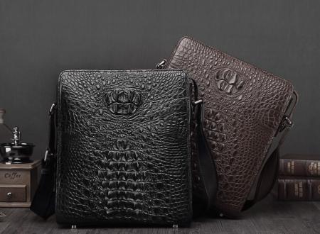 Crocodile Leather Messenger Bag Shoulder Bag Crossbody Bag-Exhibition