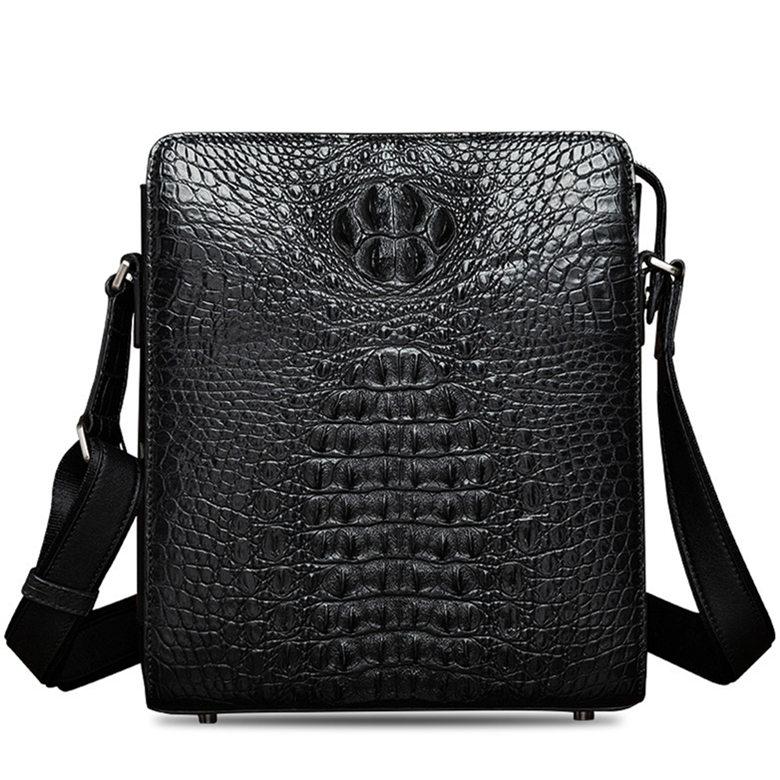 Crocodile Leather Messenger Bag Shoulder Bag Crossbody Bag