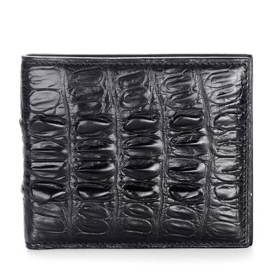 Crocodile Tail Skin Wallet, Vintage Crocodile Bifold Wallet