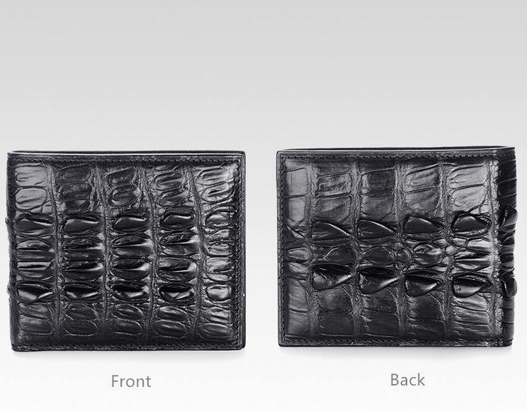 Crocodile Tail Skin Wallet, Vintage Crocodile Bifold Wallet-Details